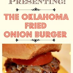 Try Oklahoma Fried Onion Burgers! You'll just need 1 large onion, peeled, halved and thinly sliced, salt and pepper, 1 lb ground beef, 1 tablespoon butter...