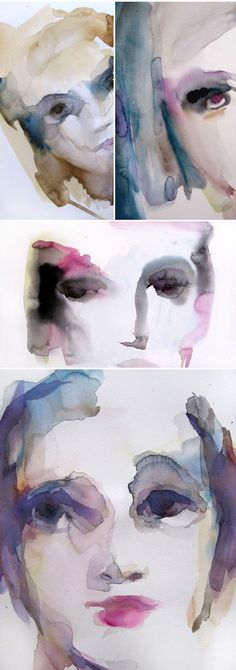 watercolor portraits by sylvia baldeva