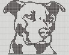 free small staffordshire terrier cross stitch pattern - Google Search