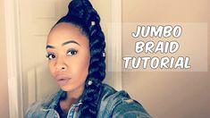 ddc41fcb2d6 How To  Easy Jumbo Braid Ponytail with Kanekalon Hair Tutorial  Natural Hair