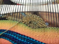 Weaving Landscapes (or just curves) This is something I posted to Ravelry, at the request of a mod who had seen some of the Work In Progess (WIP) pictures. Process post! Someone suggested I do one …