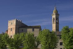 A nice view of Buonconvento in Tuscany