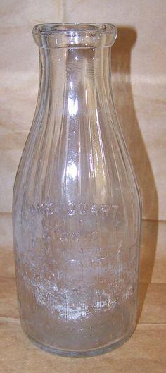 Antique Milk Bottle - ABBOTTS Alderney Dairies - 1920-30's - One Quart Dairy  #Abbotts #vintagephilly