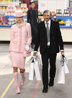"""Inside the """"Crazy Chic"""" Chanel Fall 2014 Show - Grocery Shopping Gone Glam from #InStyle"""