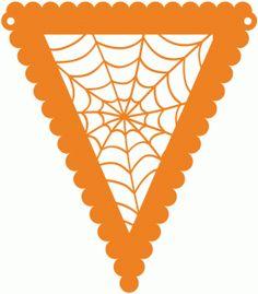 halloween spider web pennant by Jennifer Wambach Design ID #99155 Published: 10/12/2015 Regular cut