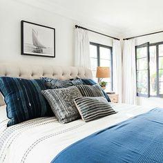 bedroom in blues