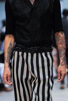 Stripes and Tattoos  the perfect fit