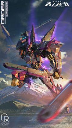 Arte Gundam, Mecha Suit, Super Robot, Spaceship, Sci Fi, Tech, Ideas, Futuristic, Science