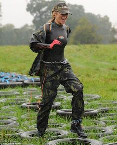 It's action Abbey! Clancy is put through her paces at army assault course in preparation for the Tango on Strictly Come Dancing Steampunk Clothing, Gothic Steampunk, Victorian Gothic, Steampunk Fashion, Gothic Lolita, Nylons, David Beckham Suit, Assault Course, Mudding Girls