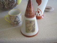 Clarice cliff style ceramics in the studio, chris Rogers