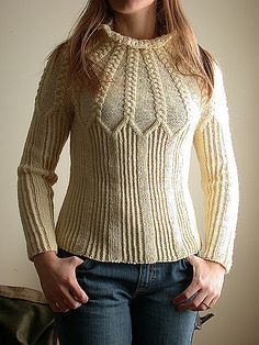 Ravelry: Yoke Pullover by Kirsten Cowan Diy Crochet Sweater, Crochet Clothes, Knit Crochet, Vogue Knitting, Baby Knitting, Knitting Designs, Knitting Stitches, Sweater Design, Knit Fashion