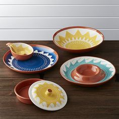 Santa Cruz Serving Pieces | Crate and Barrel