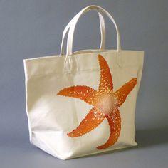 Dermond Peterson Starfish Clementine Canvas Bag   Coastal Style Gifts
