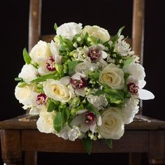 pure orchid bouquet by Appleyard London