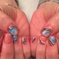 Nails by Mei. Color marble.