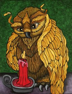 """Grandmother Owl"" by Heather Moyer  www.hmartisticcreations.com"