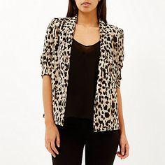 Brown leopard print jacket