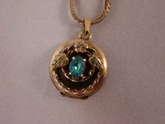 Beautiful VIntage Locket.....it has an old photo of a soldier in it!    A treasure I found at a recent estate sale.