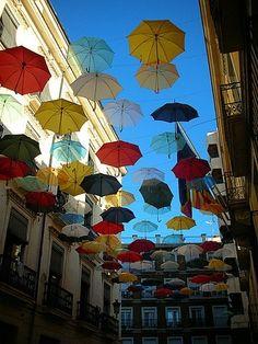 All the umbrellas in London