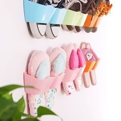 Convinient Wall-Mounted Sticky Hanging Shoe Organizer Rack Hanger Holder 1pc in Home, Furniture & DIY, Storage Solutions, Shoe Storage   eBay