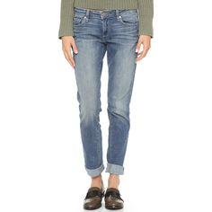 Paige Denim Jimmy Jimmy Boyfriend Skinny Jeans ($190) ❤ liked on Polyvore featuring jeans, tigerlilly, 5 pocket jeans, boyfriend jeans, paige denim, relaxed fit boyfriend jeans and skinny leg jeans
