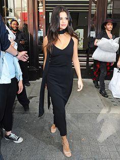 Selena Gomez arriving at Bento Cafe in London on September 25, 2015 | allure.com