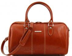 Leder Reisetasche in honig MONTE CARLO