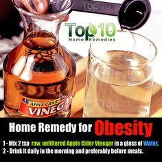 Home remedies for weight loss and obesity do work if proper diet and daily exercise is taken care of. This simple home remedy to lose belly fat includes raw unfiltered apple cider vinegar and water. Top 10 Home Remedies, Home Health Remedies, Natural Home Remedies, Herbal Remedies, Best Detox Program, Apple Cider Vinegar Remedies, Fat Loss Diet, Lose Weight Naturally, Proper Diet