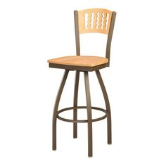 "Regal Bar Stool Seat Height: 26"", Upholstery: Mahogany Wood, Finish: Clear"