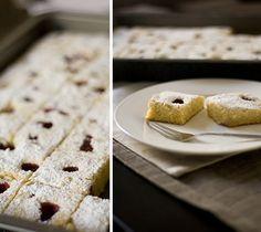 White Chocolate Almond Raspberry Blondies