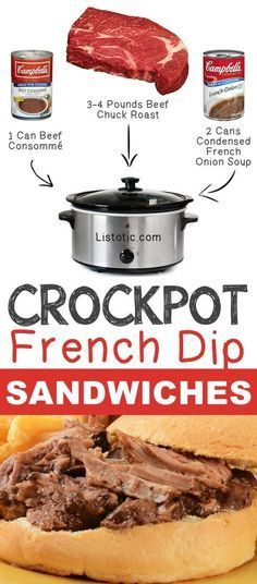 #4. Crockpot French Dip Sandwiches   12 Mind-Blowing Ways To Cook Meat In Your…