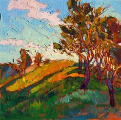 Modern impressionism landscape oil painting by Erin Hanson