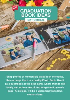 This heartfelt gift idea puts a fun spin on a traditional guest book. Take plenty of photos at the graduation ceremony, then arrange them in a Photo Book. At the grad party, have friends and family write notes of encouragement to the graduate on each page. At college, it'll be a welcomed walk down memory lane.