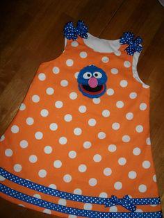 Sesame Street orange dot Grover dress