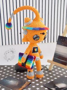 Melody of Moonlight Crochet Fairy, Cute Crochet, Crochet For Kids, Crochet Dolls, Crochet Hats, Amigurumi Patterns, Crochet Patterns, Knitted Hats Kids, Crochet Monsters