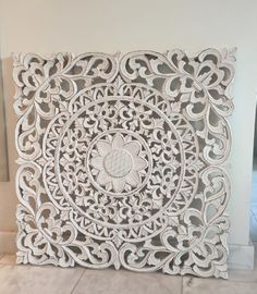 Wandpaneel 😍 Condo Living Room, Living Room Colors, Pastel Home Decor, Carved Wood Wall Art, Muebles Living, Wood Carving Designs, Mandala Stencils, 3d Cnc, Bedroom Bed Design