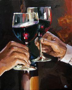 Victor Bauer wine art