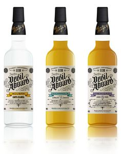 'Devil Aboard' by Ivan Castro. Second 3 of 6 Caribbean Varieties of Rum from Cuba, Nicaragua, and Trinidad Cool Packaging, Beverage Packaging, Bottle Packaging, Brand Packaging, Alcohol Bottles, Liquor Bottles, Tequila, Whisky, Rum Bottle