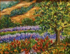 Artist: Jane Seymour  Title: A View Of Lavender Fields At Matanzas Creek