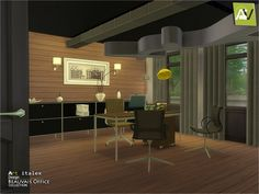 The Sims Resource: Beauvais Office by ArtVitalex • Sims 4 Downloads