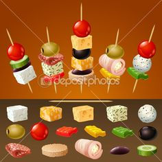 Skewer Appetizers Wedding Appetizers Appetisers Appetizer Recipes Dessert Recipes First Finger Foods Breakfast Crepes Fingerfood Food Design Party Finger Foods, Finger Food Appetizers, Snacks Für Party, Appetizers For Party, Appetizer Recipes, Toothpick Appetizers, Aperitivos Finger Food, Party Food Platters, Fingerfood Party
