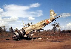 """Un Ki-51 """"Sonia"""" abandonado en Nueva Guinea"""