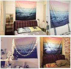 Discover the best beach themed tapestries and coastal wall tapestries. We love beach wall decor and tapestries are affordable and beautiful, which makes them a great option. Tapestry Nature, Tapestry Beach, Tapestry Bedroom, Wall Tapestry, Beachy Room, Surf Room, Drawings Of Friends, Beach Wall Decor, Living Room Bedroom