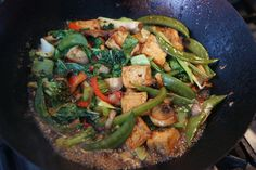 Vegetables and tofu with sweet soya sauce