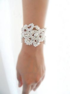 Bracelet Bridal bracelet bridal cuff bride cuff by WEDDINGHome, $72.00