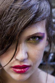 The peacock effect Metallic eyeshadows Braid Hair + make up by Panos Kallitsis #hair #beauty #makeup