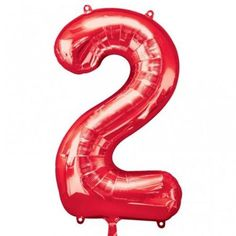 Mayflower Distributing 63715 34 inch 2 RED NUMBER SHAPE BALLOON -PKG - Walmart.com