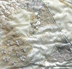 I ❤ crazy quilting & ribbon embroidery . . . Problem Child-Janet Popish ~By Pinyon Creek Stitchin'