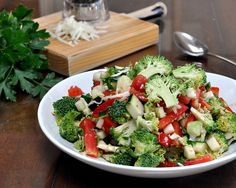 Tomato & Zucchini Salad, another quick, easy and adaptable salad ♥ AVeggieVenture.com. Low Carb. WW2.