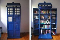Dr. Who police box book keeper